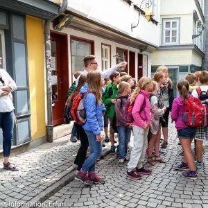 Schüler: Altstadtführung in Erfurt